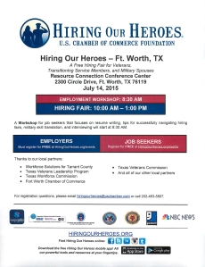 Hiring Our Heroes Ft. Worth July 14 2015