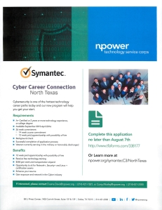 NPower Cyber Security Sept 2015 Course