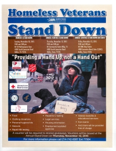 Homeless Stand Down Dallas TX Nov 10 - 13 2015