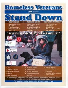 Homeless Stand Down Dallas TX Nov 10 - 13 2015