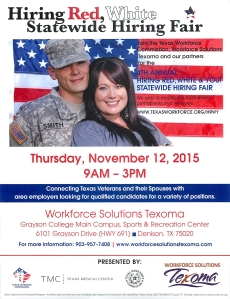 Hiring Red White and You 2015 Denison Texas