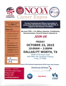 NCOA Career Fair Oct 23 2015 Dallas Ft Worth