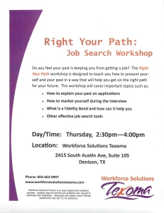 Right Your Path Job Search Workshop Denison Texas