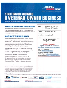 Starting or Growing a Veteran Owned Business 2015