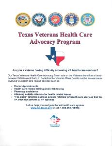 Texas Veterans Health Care Advocacy Program