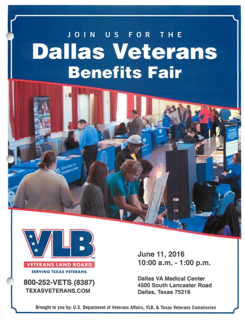 Dallas Veterans Benedits Fair June 11 2016