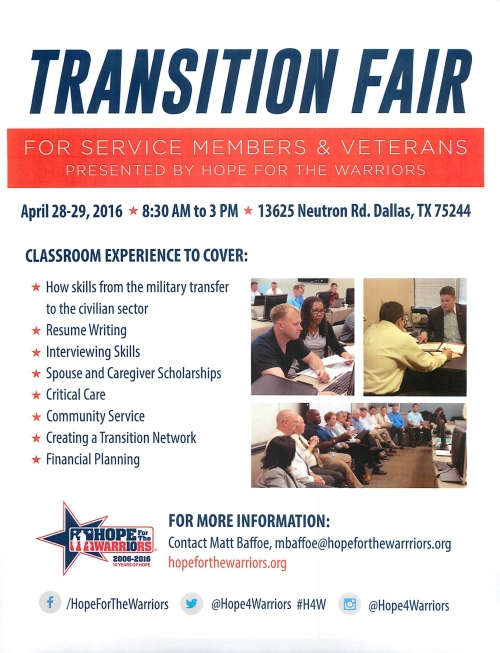Transistion Fair April 28 29 2016 Dallas TX