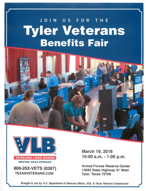 Tyler Veterans Benefits Fair March 19 2016
