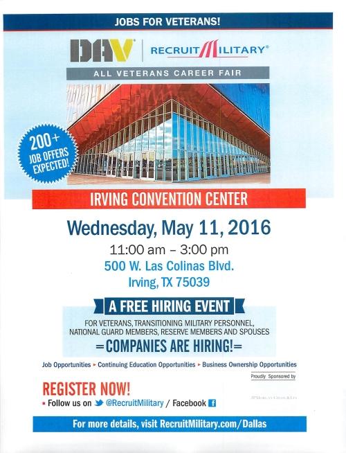 DAV Recruit Military Irving TX May 11 2016