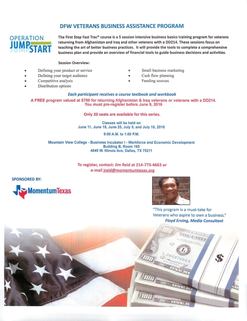 DFW Veterans Business Assistance Program June 2016