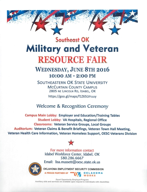 Military Veteran Resource Fair Jume 2016